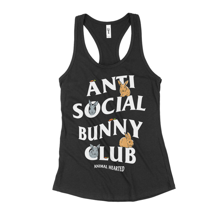 Anti Social Bunny Club Women's Tank Tops