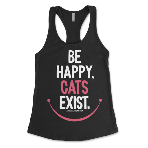 Be Happy Cats Exist Womens Tank Top