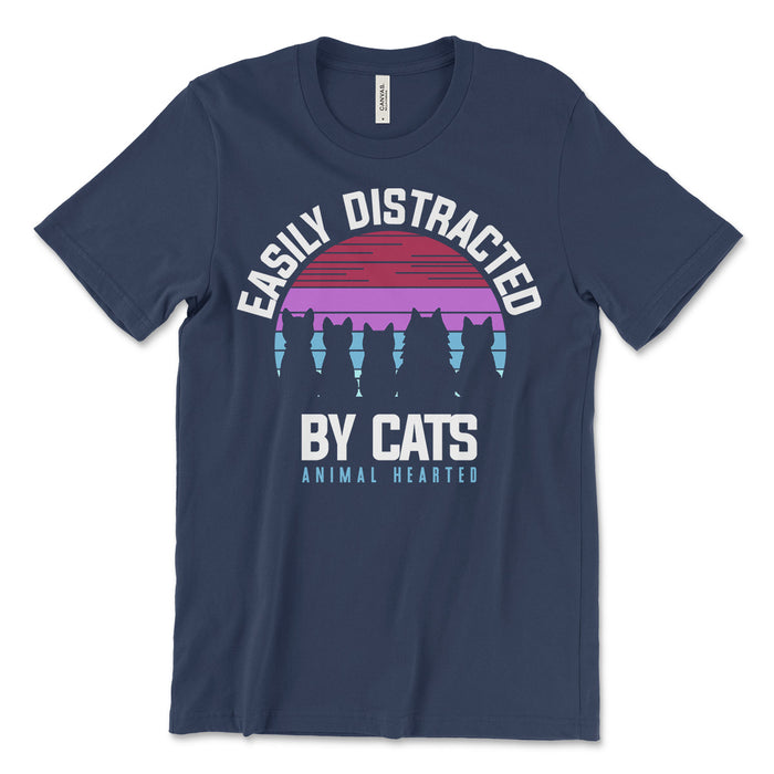 Easily Distracted By Cats Tee Shirt