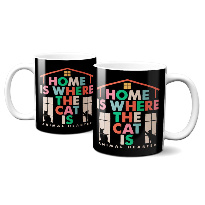 Home Is Where The Cat Is Coffee Mugs