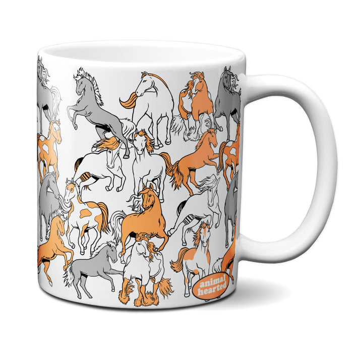 Horse Pattern Coffee Mug