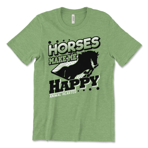 Horses Make Me Happy Tee Shirt
