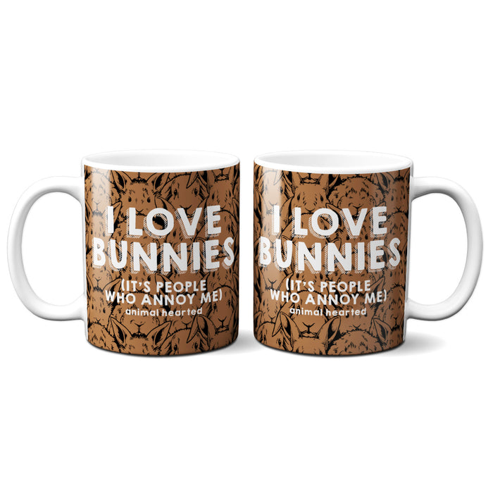 I Love Bunnies Mugs