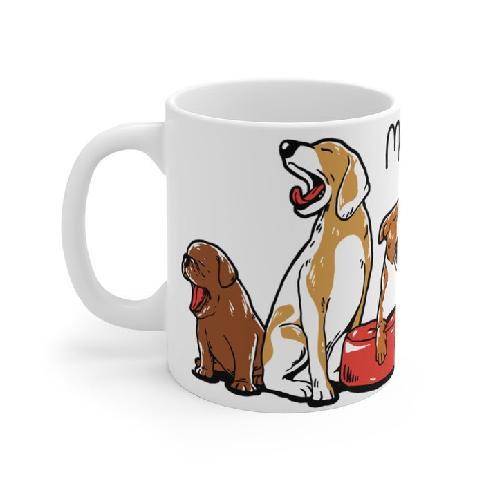 Mornings are ruff mug gifts for dog owners