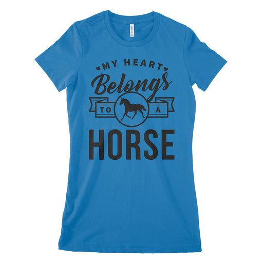 My Heart Belongs To A Horse Womens T Shirt