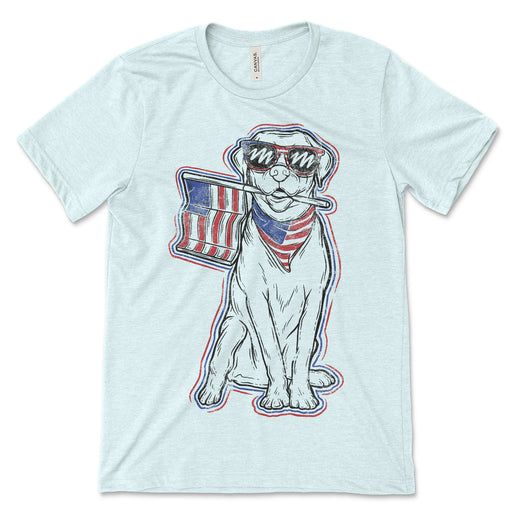 Patriotic Dog Tee Shirt