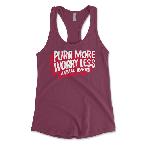 Purr More Worry Less Womens Tank Tops