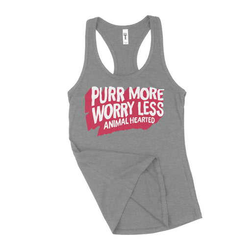 Purr More Worry Less Womens Tank