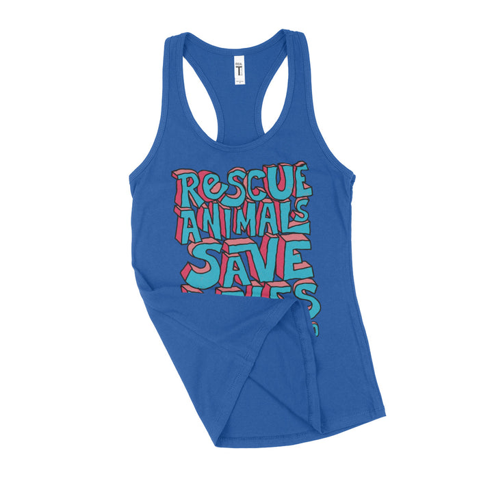 Rescue Animals Save Lives Womens Tank