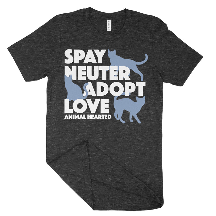 Spay Neuter Adopt Love Cat Shirt