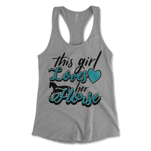 This Girl Lovers Her Horse Womens Tank Top