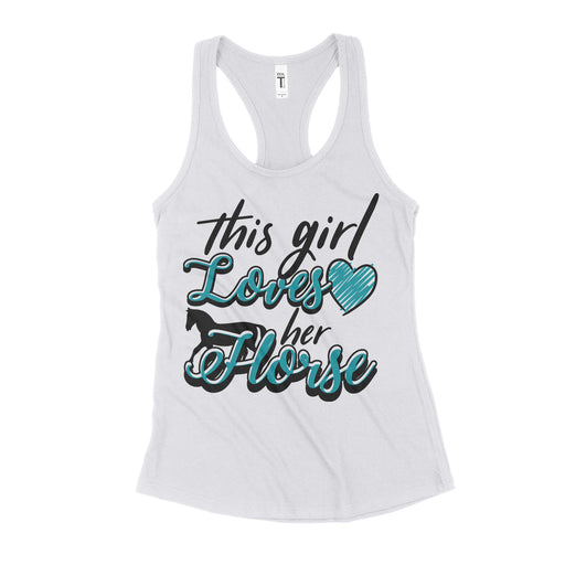 This Girl Lovers Her Horse Womens Tank