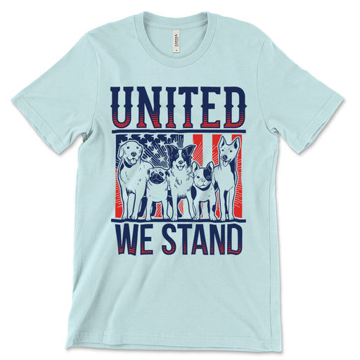 United We Stand Dogs Tee Shirt