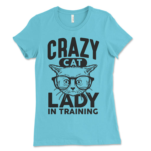 Womens Crazy Cat Lady In Training Shirt