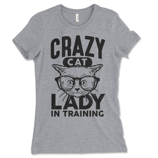 Womens Crazy Cat Lady In Training T Shirt