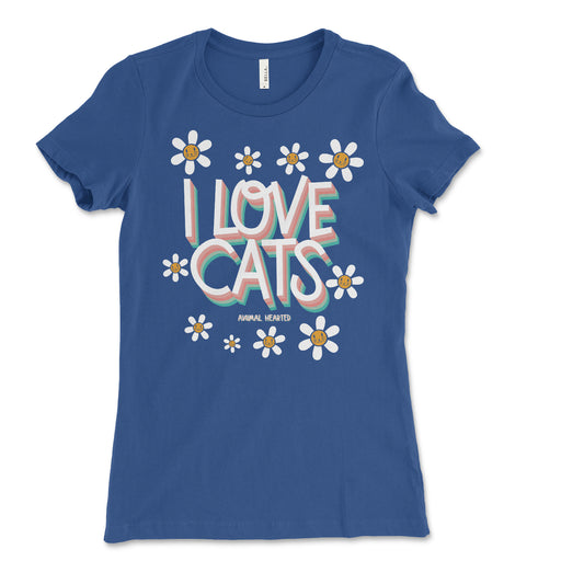 Womens I Love Cats Shirt