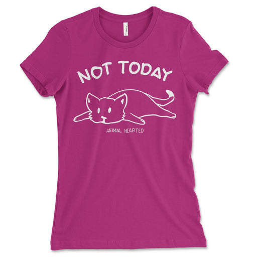 Womens Not Today Cat Shirt