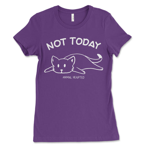 Womens Not Today Cat Tee Shirt