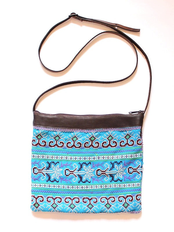 Blue Vintage Embroidery Bag