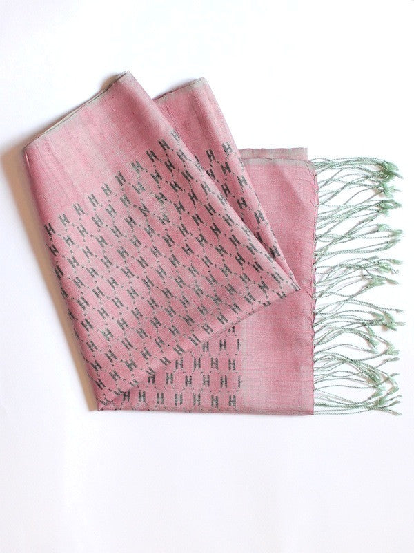 Dusty Rose H Scarf