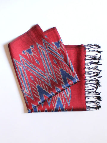 Crimson Big Diamond Scarf