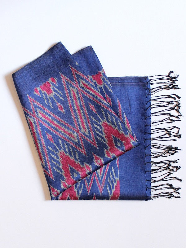 Dark Blue Big Diamond Scarf