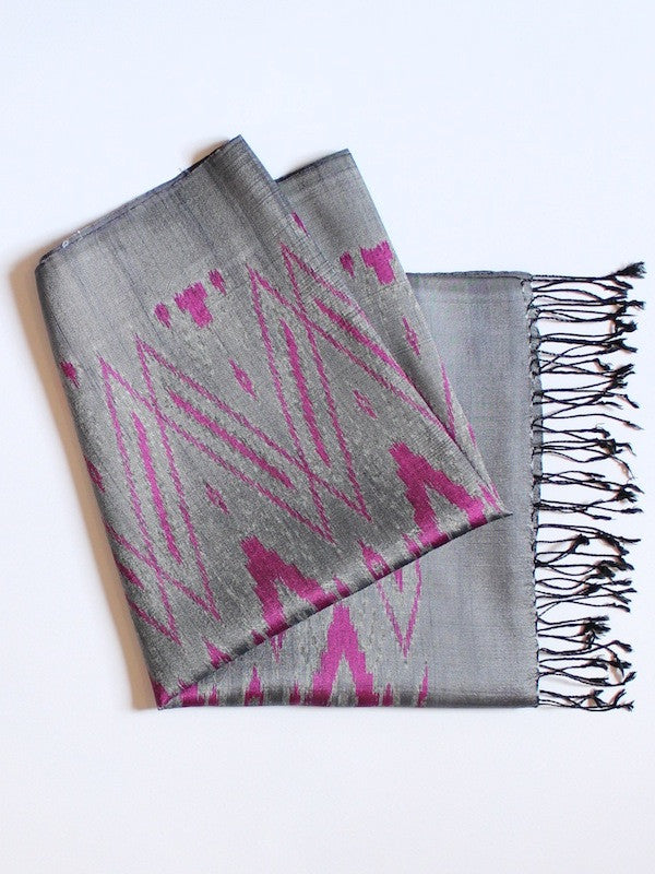 Slate Big Diamond Scarf