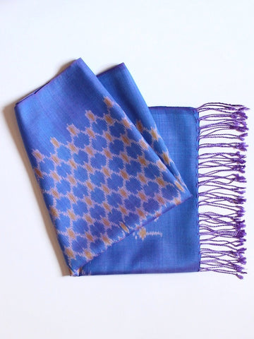 Periwinkle Honeycomb Scarf
