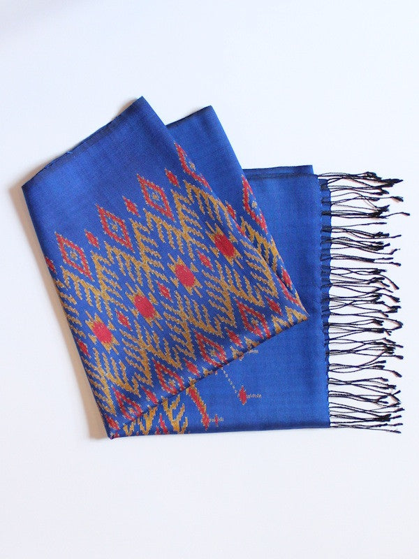 Cobalt Feather Scarf