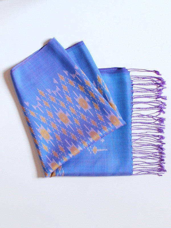 Periwinkle Big Diamond Scarf