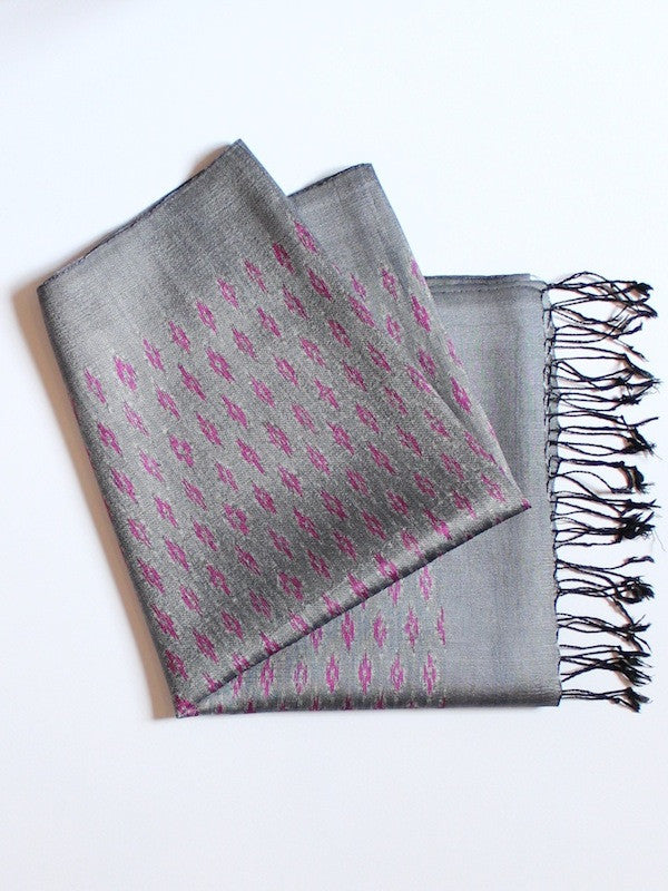 Slate Faded Diamond Scarf