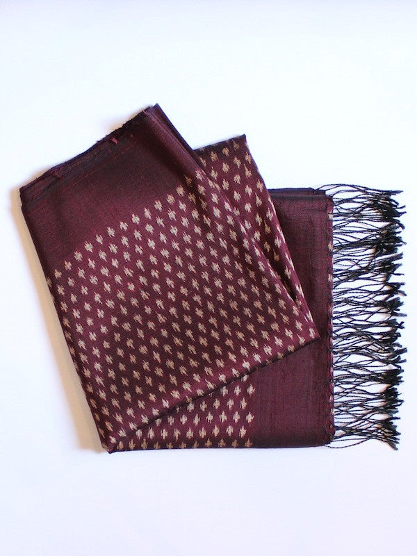 Burgundy Tiny Diamond Shawl