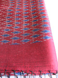 Crimson Tiny Diamond Scarf