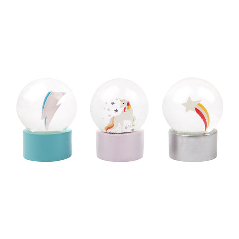 Glitter Mini Globes Stardust Set of 3