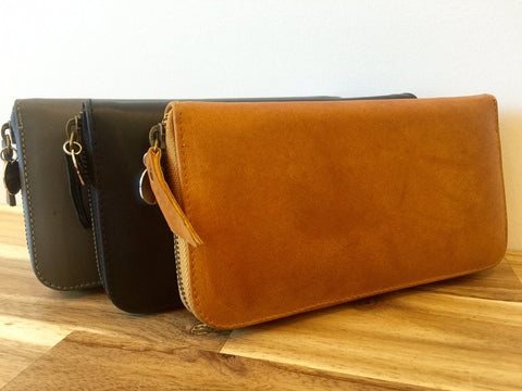 Moo Wallet - Tan Antique