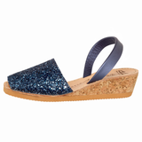 Navy Glitter Wedge