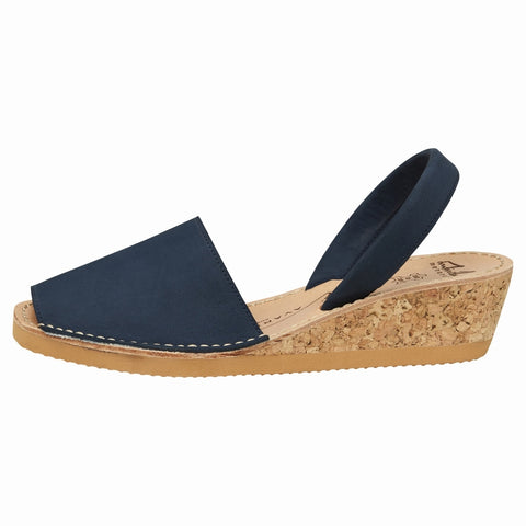 Navy Nubuck Wedge