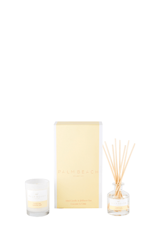Mini Candle + Diffuser Set - Coconut & Lime