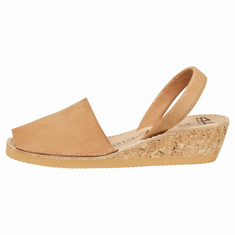 Tan Nubuck Wedge