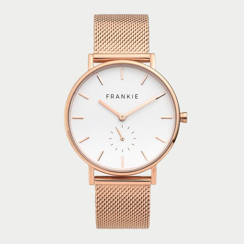 Polished Rose Mesh Iconic Watch