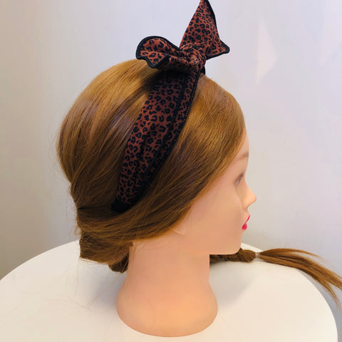 Bow Knot Animal Print Headband
