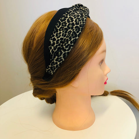 Wide Knot Animal Print Headband