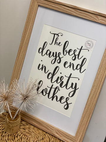 The Best Days Print