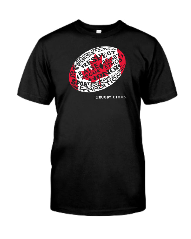 Oh Canada!  Rugby Canada Word Ball Tee