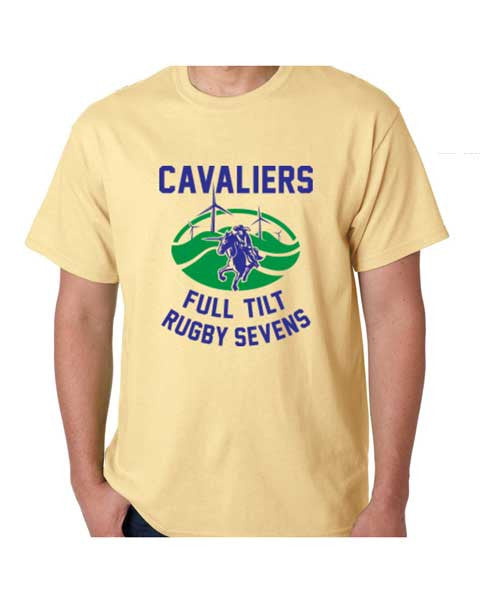 Cavaliers Full Tilt Rugby Tee - Mens Summer Yellow  - also available in Athletic Grey - Rugby Ethos