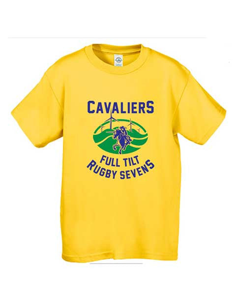 Cavaliers Full Tilt Rugby Tee - Kids Yellow  - also available in Athletic Grey - Rugby Ethos