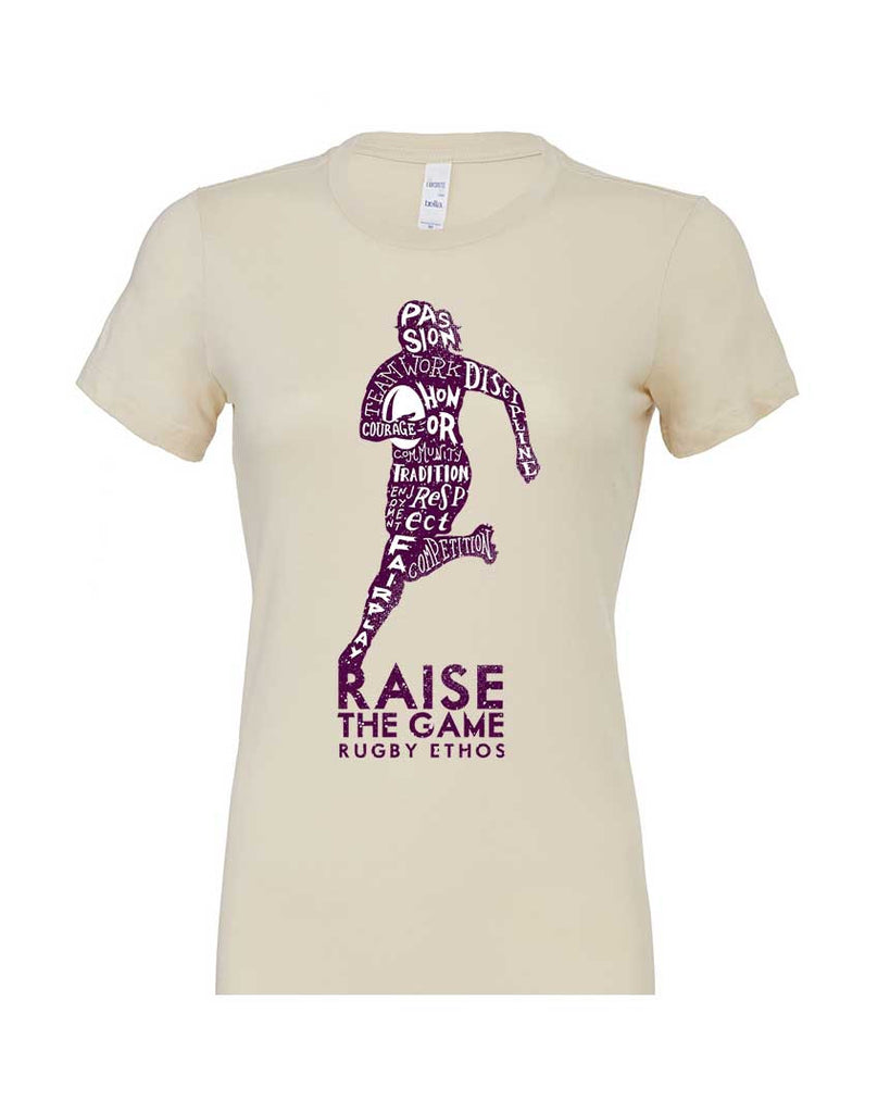 Ladies First! Women's Rugby tshirt - Ivory color - Rugby Ethos