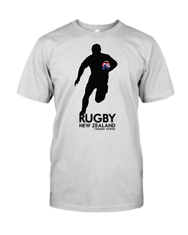 New Zealand Rugby Tee - Silver