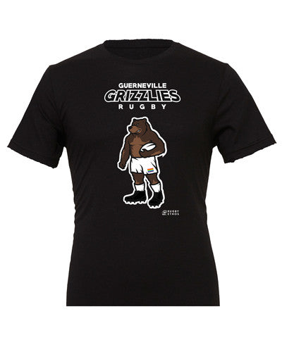 The Guerneville Grizzlies Rugby Shirt - color Black - Rugby Ethos
