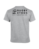 Boys Rugby Shirt - color Sport Heather - back -Rugby Ethos